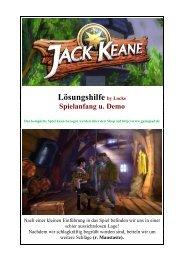 Jack Keane, Lockes bebildertes Lösungsbuch zur ... - Gamepad.de