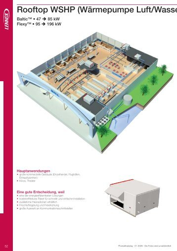 Rooftop WSHP (Wärmepumpe Luft/Wasse - Lennox
