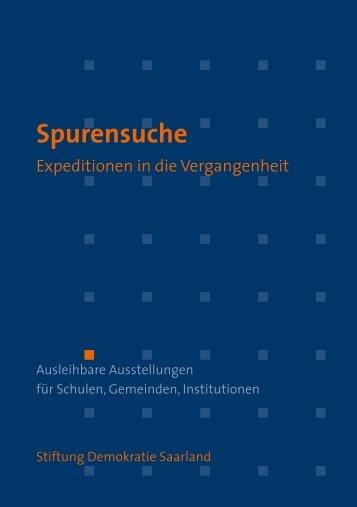 Spurensuche - Stiftung Demokratie Saarland