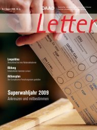 Superwahljahr 2009 - DAAD-magazin