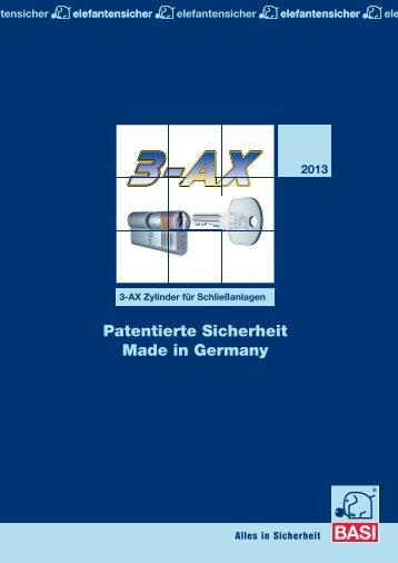 Patentierte Sicherheit Made in Germany - Basi GmbH