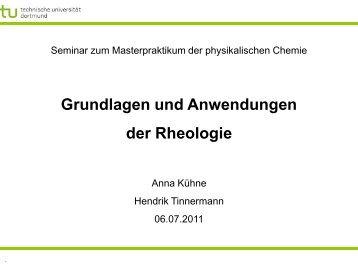 Grundlagen und Anwendungen der Rheologie