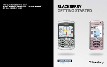BLACKBERRY gEtting stARtEd - Phone house