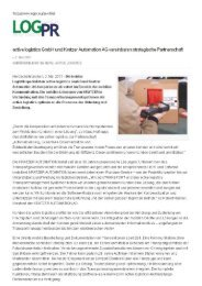 active logistics GmbH und Kratzer Automation AG vereinbaren ...