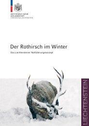 Der Rothirsch im Winter Das Liechtensteiner Notfütterungskonzept