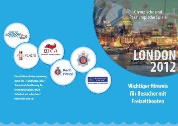 Wichtiger Hinweis für Besucher mit Freizeitbooten