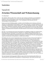Zwischen Wissenschaft und Weltanschauung - (HKS), Ottersberg