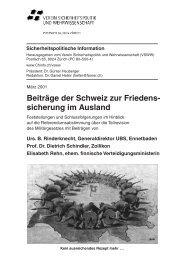 Sicherheitspolitische Information, März 2001 - VSWW