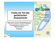 Frailty als Teil des geriatrischen Assessments EDI 2009 - DGEM
