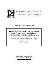 View - Economia Politica - Università degli Studi di Milano-Bicocca