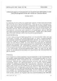 ARTICULATA 1997 12(2): 131-140 ÖKOLOGIE Untersuchungen zur ...