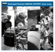 Santropol Roulant ANNUAL REPORT 2003-2004