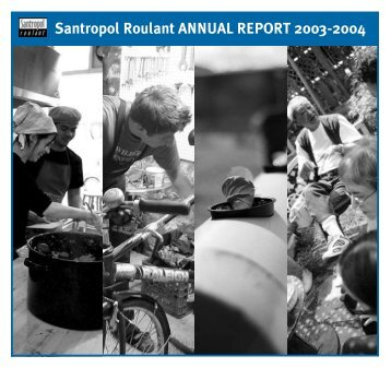 Santropol Roulant ANNUAL REPORT 2003-2004