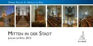Mitten in der Stadt - 1/2012 - offene kirche - sankt nikolai zu kiel