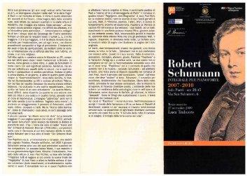 Integrale per pianoforte R. Schumann - Concerto ... - Fondazione MIA