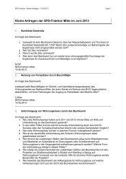 Kleine Anfragen der SPD-Fraktion Berlin-Mitte vom 10. Juni 2013