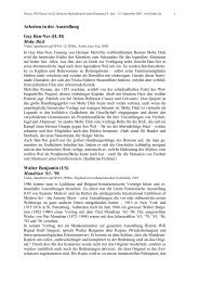 Arbeiten in der Ausstellung Guy Ben-Ner (IL/D) Moby Dick Walter ...