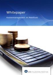 Whitepaper Kostenmanagement Mobilfunk - BTD Gruppe