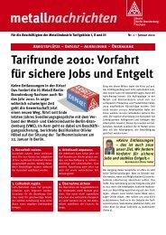dazu im Flugblatt - IG Metall Bezirk Berlin-Brandenburg-Sachsen