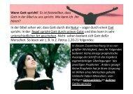 Wenn Gott spricht! - BewegungPlus Basel