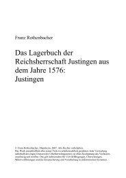 Das Lagerbuch der Reichsherrschaft Justingen aus dem ... - Mzes