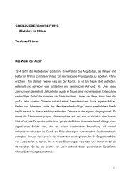 GRENZUEBERSCHREITUNG - 36 Jahre in China - Heidelberg ...