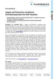 sipgate und Plantronics vereinbaren Vertriebskooperation für VoIP ...