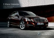 Preisliste Mercedes-Benz E-Klasse Limousine W212 vom 04.06.2012.