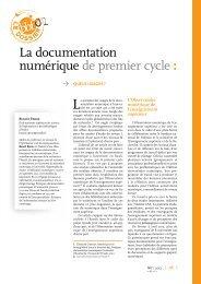 La documentation numérique de premier cycle : - Enssib