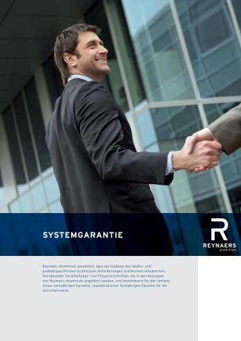 SYSTEMGARANTIE - Reynaers Aluminium