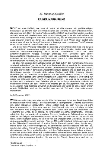 RAINER MARIA RILKE - Kaleidophon-verlag.com