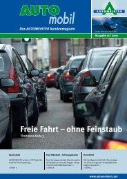 Freie Fahrt ° ohne Feinstaub - AUTOMEISTER