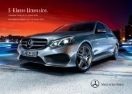 Preisliste Mercedes-Benz E-Klasse Limousine W212 vom 15.01.2013.