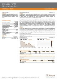 JPMorgan Funds - Global Mining Fund - fundinfo.com