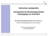 Vortrag von Herrn Prof. Dr. Thomas Ehrmann - Hochschule ...