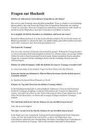 Informationen zur Hochzeit ( PDF , 17,5 kB)