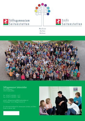Folder des Stiftsgymnasiums 2012/135.08 MB - Stift Seitenstetten