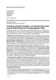Verwaltung verhindert ökologisch- und ökonomischste Umset- zung ...