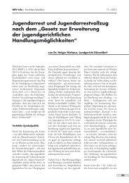 """Jugendarrest und Jugendarrestvollzug nach dem """"Gesetz zur ..."""