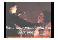Electromagnetic nature of dark energy - Univers Invisible