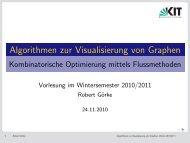 Algorithmen zur Visualisierung von Graphen - Vorlesung 7