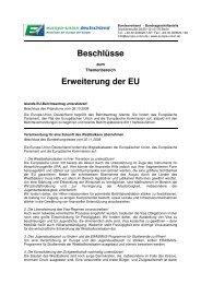 Beschlüsse Erweiterung der EU - Europa-Union Deutschland e.V.