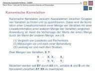 Kanonische Korrelation - Lehrstuhl für Rechnerorientierte Statistik ...