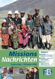Nachrichten 2009-5 - Missionswerk FriedensBote
