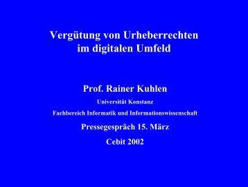 Information Engineering - Prof. Dr. Rainer Kuhlen