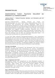 Psychische Gesundheit der Mitarbeiter zur Chefsache ... - VDBW