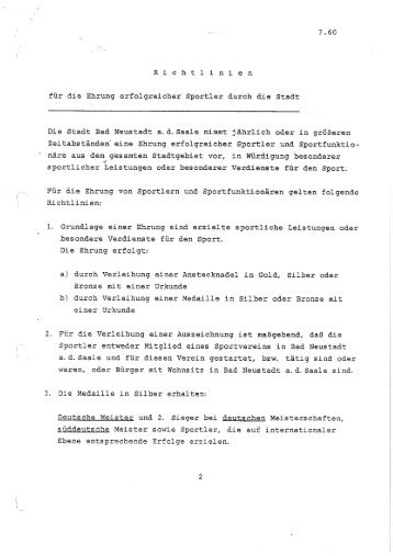Sportler-Ehrungen - Stadt Bad Neustadt