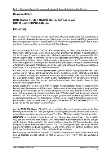 Dokumentation DHM-Daten für den DACH+ Raum auf Basis von ...