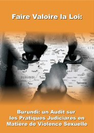un Audit sur les Pratiques Judiciares en Matière de ... - ACORD