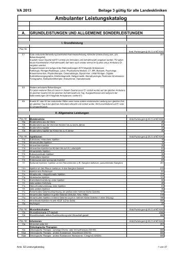Leistungskatalog - NÖ Landeskliniken-Holding